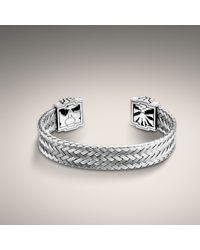 John Hardy - Metallic Stainless Steel Woven Slim Cuff for Men - Lyst