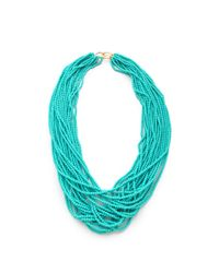 Kenneth Jay Lane - Blue Turquoise Necklace - Lyst