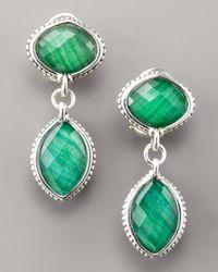 Lagos - Green Malachite Doublet Drop Earrings - Lyst