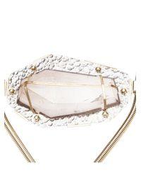 Lanvin - Metallic Smokey Quartz Collar Necklace - Lyst