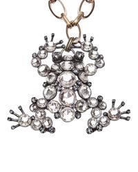Lanvin - Metallic Frog Necklace Or Brooch - Lyst