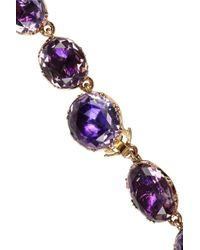 Olivia Collings - Purple 18karat Gold Amethyst Rivière Necklace - Lyst