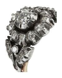 Olivia Collings - Metallic 18karat Gold Silver and Diamond Ring - Lyst