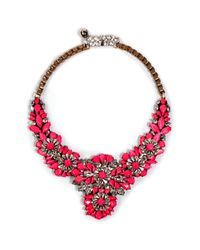 Shourouk | Apolonia Necklace in Neon Pink | Lyst