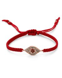 Tai - Evil Eye Bracelet On Red Cord - Lyst