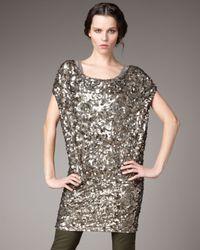 Vince | Metallic Ring Sequin Dress | Lyst