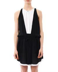 A.L.C.   Black Tie-dye Block-stripe Camie Halter Dress   Lyst
