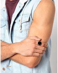 ASOS | Black Asos Ring with Stone for Men | Lyst