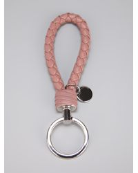 Bottega Veneta - Pink Braided Loop Key Ring for Men - Lyst