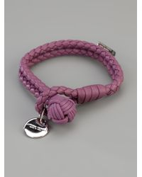 Bottega Veneta - Purple Braided Bracelet - Lyst