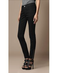 Burberry Brit | Black Burrington Skinny Fit with Zip | Lyst
