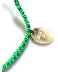 La Mome Bijou - Green Love Is A Drug Friendship Bracelet - Lyst