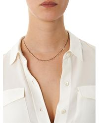 Sia Taylor - Metallic Rutheniumplated Silver Medium Dots Necklace - Lyst