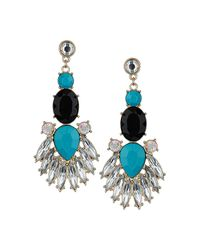 TOPSHOP - White Flower Drop Earrings - Lyst