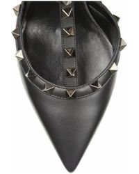 Valentino   Black Rockstud Leather Pumps   Lyst