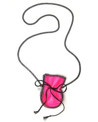 Venessa Arizaga | Pink Talum Medicine Bag Necklace | Lyst