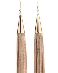 Eddie Borgo | Brown Pave Cone Tassel Earring | Lyst