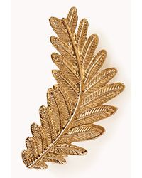 Forever 21 - Metallic Etched Leaves Earring Cuff - Lyst