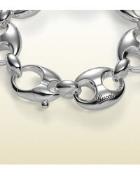 Gucci - Metallic Bracelet In Sterling Silver With Marina Chain Motif for Men - Lyst