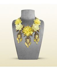 Gucci - Necklace with Yellow Flowers Motif - Lyst