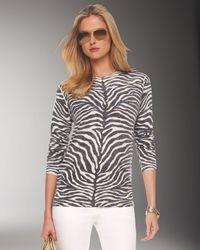 Michael Kors | White Cashmere Zebra Print Pullover | Lyst