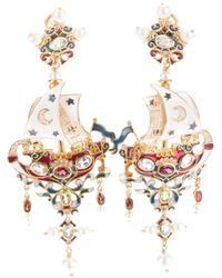 Percossi Papi | Metallic Galleon Earrings | Lyst