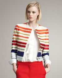 Stella McCartney | Multicolor Striped Sateen Jacket | Lyst