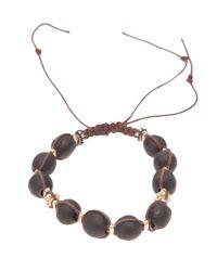 Stones Of Character - Brown Woven Macramã Bracelet for Men - Lyst