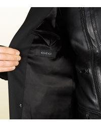 Gucci - Black Wool Equestrian Coat for Men - Lyst