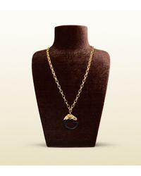 Gucci - Metallic Horse Head G Necklace - Lyst