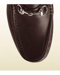 Gucci - Black Horsebit Loafer In Leather for Men - Lyst