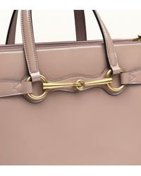 Gucci - Pink Bright Bit Patent Leather Top Handle Bag - Lyst