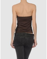 Juicy Couture - Brown Jersey Tube Top - Lyst