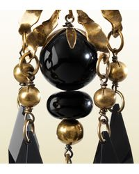 Gucci - Earrings with Black Pendants - Lyst
