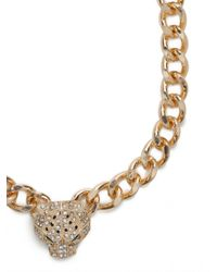 BaubleBar - Metallic Gold Spotted Jaguar Pendant - Lyst