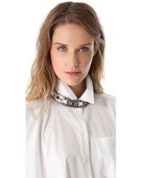 DANNIJO - Metallic Shane Collar Necklace - Lyst