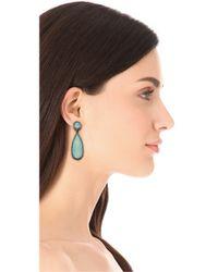 One By - Blue Crown Double Drop Earrings - Lyst