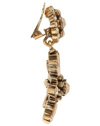 Oscar de la Renta | Metallic Goldplated Clip Earrings | Lyst