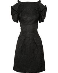 Roland Mouret | Black Diana Brocade Dress | Lyst