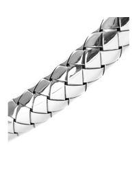 Bottega Veneta - Metallic Intrecciato Bracelet - Lyst