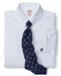 Brooks Brothers | White Georgetown University All-Cotton Non-Iron Brookscool® Regular Fit Dress Shirt for Men | Lyst