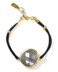 Coralia Leets | Black Silk Gemstone Bracelet | Lyst