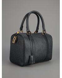 Fendi Black Logo Bowling Bag