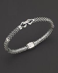 "Lagos | Metallic ""Derby"" Diamond Caviar Bracelet | Lyst"