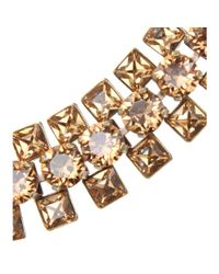 Lanvin - Brown Selftie Necklace with Crystal Embellishment - Lyst