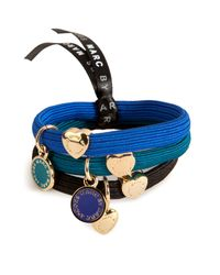 Marc By Marc Jacobs | Metallic Enamel Disc Hair Tie Cluster in Bauhaus Blue Multi | Lyst