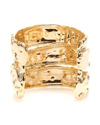 Marc By Marc Jacobs - Metallic Textured Cuff Bracelet - Lyst