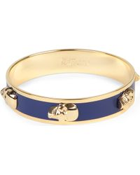 Alexander McQueen | Blue Large Enamel 3d Skull Bracelet | Lyst
