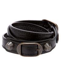 Balenciaga | Black Studded Bracelet | Lyst
