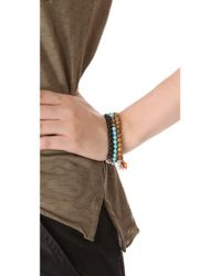 Chan Luu - Blue Beaded Bracelet Set - Lyst
